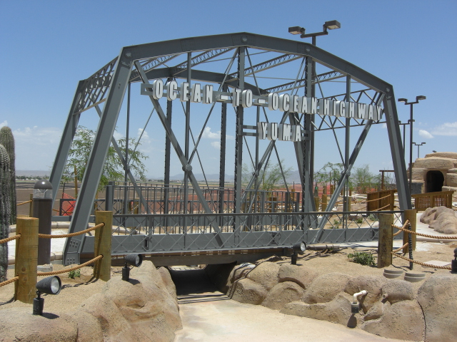 """Ocean to Ocean"" bridge replica for Z Fun Factory in Yuma, Arizona."